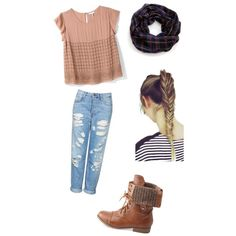 A fashion look from October 2014 featuring Joie tops, Topshop jeans and Charlotte Russe ankle booties. Browse and shop related looks.