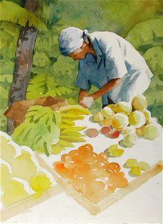 Tropical Fruit—a Negative Painting DEMO - WetCanvas