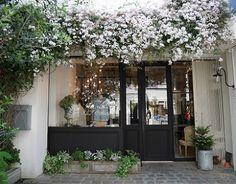 Pin on Home Shop Facade, Cafe Concept, Garden Cafe, House Of Beauty, Coffee Shop Design, Store Interiors, Cafe Shop, Interior Exterior, Garden Styles