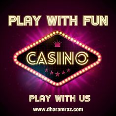 Dharamraz offers a wide range of choices when it comes to online casino. From slots to blackjack, roulette, and poker, you get the opportunity to have some fun and maybe even win some cash. Sign-up Now https://bit.ly/2rpIBEF  #onlinecasinogames #onlinecasinobonus #onlinecasino #poker #roulette #blackjack #slots #bingo #spins #Dharamraz