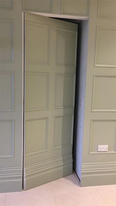 Beaded Wall Panelling with special secret panelled door, coving, architraves, skirting and matching archway Secret Room Doors, Secret Walls, Secret Rooms, Wooden Panelling, Wooden Wall Panels, Wall Panelling, Paneling Walls, Modern Wall Paneling, Paneling Ideas