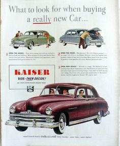 1949 Kaiser Custom Four Door Sedan