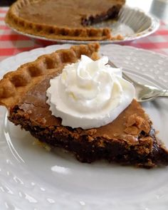 The best chocolate pie!! There is a rich butter taste and a slight crunch to the top!