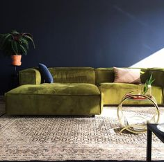 "The Dunbar Sofa: ""I have had this sofa (upholstered in dark blue velvet) in my living room for a few years now, it's super comfortable and still in great shape!"""