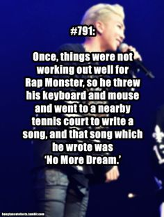 Awww my poor baby. Well at least he got the inspiration to right an amazing song.