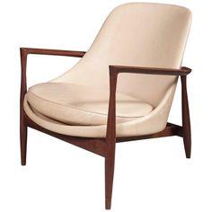 Ib Kofod-Larsen 'Elizabeth' Lounge Chair in Leather   1stdibs.com