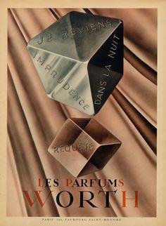 """Worth (Perfumes) 1945 """"Requête, Je Reviens"""""""