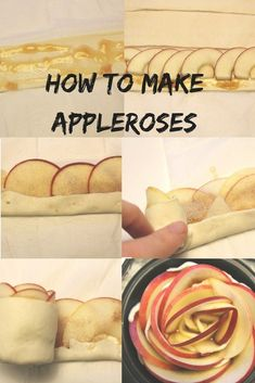 Apple puff pastry roses How to make applerose apple Muffins Peach Puff Pastry, Nutella Puff Pastry, Rough Puff Pastry, Puff Pastry Dough, Frozen Puff Pastry, Puff Pastry Recipes Savory, Easy Tart Recipes, Puff Pastry Appetizers, Puff Pastry Desserts