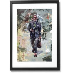 "Framed Sartorial Painting No.85 Mr.David Print, 16"" X 24"" Black Wood, The Republic, Solid Black, Outline, Frame, David, Museum, Painting, Artist"