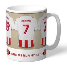 Personalised Ceramic Mug - Sunderland AFC Dressing Room Sunderland Afc, Dressing Room Design, Gifts For Sports Fans, Best Gifts, Ceramics, Mugs, Personalized Items, Tableware, Gift Ideas