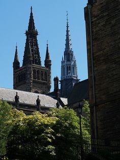 spires of the University of Glasgow