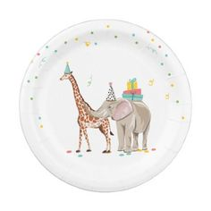 Shop Party Animals Safari Zoo Party Girl Wild Birthday Paper Plate created by Anietillustration. Personalize it with photos & text or purchase as is! Animal Themed Birthday Party, Animal Birthday Cakes, Safari Birthday Party, Jungle Party, 3rd Birthday Parties, Birthday Ideas, Birthday Animals, Jungle Theme, Party Animal Theme