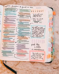 Bible Study Notebook, Bible Study Tips, Bible Study Journal, Scripture Study, Bible Art, Cute Bibles, Bibel Journal, Bible Doodling, Bible Notes