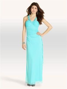 Shirred Side X-Back Gown