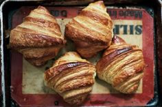 Is a Square Croissant Still a Croissant? Is it a Better Croissant? Breakfast Pastries, Bread And Pastries, Homemade Croissants, Making Croissants, Croissant Recipe, Butter Croissant, Kolaci I Torte, Food 52, Love Food