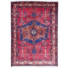 12055 Afshar Sirjan rug Iran / Persia 6.7 x 4.7 ft / 203 x 144 cm