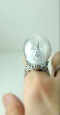 Eiffel Tower snow globe ring! I have never wanted a piece of jewellery more in my life.