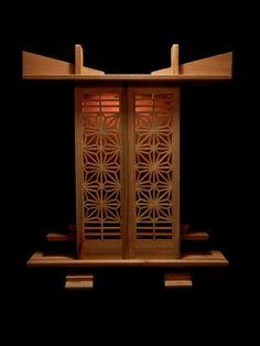 Pooja Room Door Design, Meditation Altar, Japanese Furniture, Pooja Rooms, Room Doors, Buddha, Woodworking, Ceramics, Okinawa