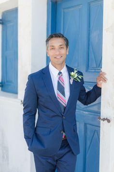 A romantic wedding in Santorini Island Santorini Island, Santorini Wedding, White Ribbon, Suit Jacket, Breast, Romantic, Events, Boutique, Fashion