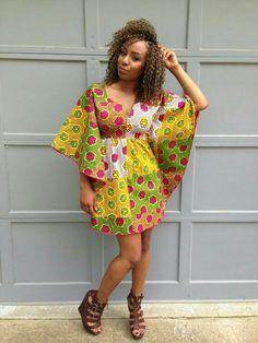 The Vivian Dress Ankara Butterfly Dress by ItsArchel ~African fashion, Ankara… Short African Dresses, Ankara Short Gown Styles, Trendy Ankara Styles, Short Gowns, Kente Styles, African Print Dresses, African Prints, Dress Styles, African Fashion Ankara