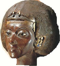 Queen Tiye was a queen of the 18th Dynasty, married to Amenhotep III. The daughter of Yuya, high official under Thutmose IV. Her mother was Thuya. Queen Tiye was of Nubian extraction.