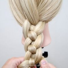 How to 4 strand braid angela holm on 4 strand braid tutorial! to braid with 4 strands it so simple and fun once you get the hang of it! use this 4 strand braid for a strap Easy Hairstyles For Long Hair, Cool Hairstyles, Hairstyles 2018, Female Hairstyles, Hairstyles Videos, Braided Hairstyles Tutorials, Style Hairstyle, Medium Hairstyles, 5 Strand Braids