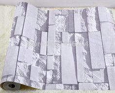 Gran pared de ladrillo gris de fondo de pared papel tapiz para sala de estar, 3d wallpaper piedra moderna pvc revestimiento de paredes wa techo wallpaper