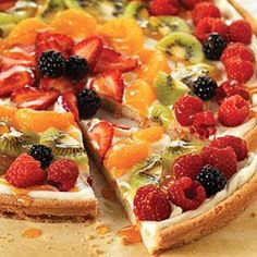 PHILADELPHIA Fruit Pizza Recipe from our friends at KRAFT®