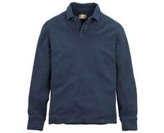 Men's Long Sleeve Canoe River Polo Shirt