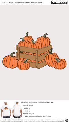 Zeta Tau Alpha Sisterhood Pumpkin Carving Shirt | Sorority Sisterhood Pumpkin Carving Shirt | Greek Sisterhood Pumpkin Carving Shirt #zetataualpha #zeta #zta #Sisterhood #Pumpkin #Carving #Shirt Zeta Tau Alpha, Custom Design Shirts, Sorority And Fraternity, Halloween Themes, Pumpkin Carving, Screen Printing, Fall, Prints, Screen Printing Press