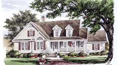 Home Plan HOMEPW77347 - 2262 Square Foot, 3 Bedroom 2 Bathroom Country Home with 2 Garage Bays | Homeplans.com