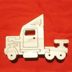 Semi 18-Wheeler Tractor Trailer Truck Childrens by GrampsWoodShop