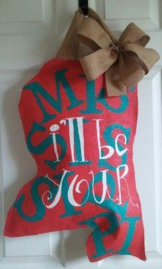 Mississippi and Louisiana Burlap Door Hanger! Love Love Love! from @Sweet Magnola
