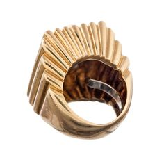 DAVID WEBB 1970s Yellow Gold and Diamond Cocktail Ring | From a unique collection of vintage cocktail rings at http://www.1stdibs.com/jewelry/rings/cocktail-rings/