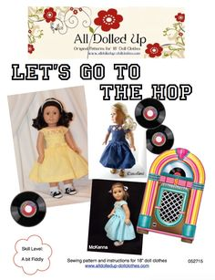 "The first in a series of dresses reminiscent of the 1950's for your American Girl or similar 18"" doll."