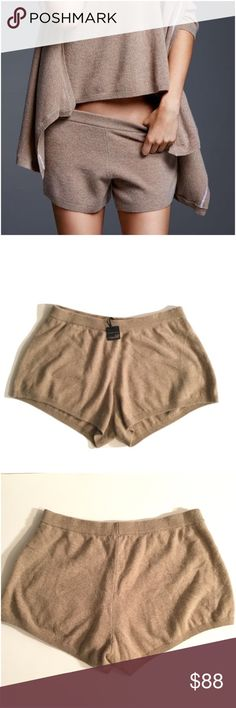 Victoria's Secret Cashmere Shorts Brand new with tag. Size large. Tan color. Grey also available in my closet. 100% Cashmere Victoria's Secret Shorts