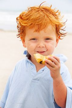 Beaching it❤️ this is sooooo cute! If I had a son, would want him to look just like this! :D