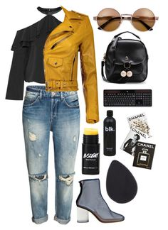 """""""Chanel"""" by mode-222 ❤ liked on Polyvore featuring Alice + Olivia, Maison Margiela, Logitech and Assouline Publishing"""