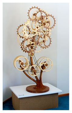 Kinetic Sculpture by David C. Roy - All Sculptures | Wood That Works | Kinetic Art - Cognition