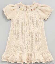 Вязание Дети Baby Knitting Patterns, Baby Patterns, Crochet Skirts, Baby Dress, Girls Dresses, Embroidery, Crafts, Crochet Baby, Knit Crochet