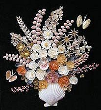 Counch Shell Work shell crafts are in great demand in India.