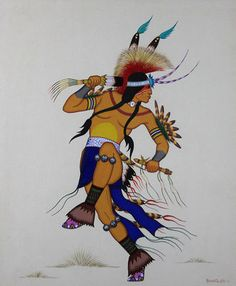 $7500 Traditional Dancer, Paintings by Acee Blue Eagle https://www.youtube.com/watch?v=EuIFqLa2r6w