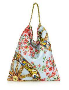 DOLCE & GABBANA Anita floral-print silk tote