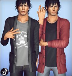 My Sims 3 Blog: Kill Me Outerwear Sweater for Males by Chris Jocker