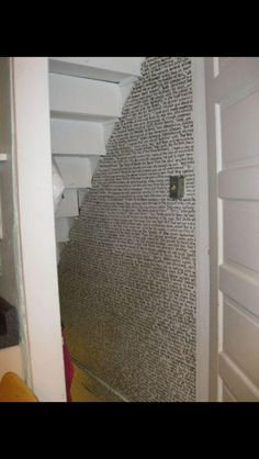 First chapter of Harry Potter, written on the cupboard under the stairs.