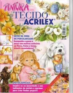 Pintura em Tecido com Acrilex.. - Rosana Carvalho - Picasa Web Albums...FREE MAGAZINE!!