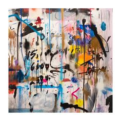 Album Cover of Someone's Life, 2015 House paint, acrylic, spray-paint, ink, marker, and graphite on panel 35.5 x 35.5 inches (90.17 x 90.17 cm) #WALLS #GregorySiff photo by @2wenty_ @carusoart @diamondbird1