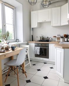 Magic Khrushchev in the Scandinavian style. The kitchen of sq m combined . Kitchen Room Design, Home Room Design, Home Decor Kitchen, Kitchen Interior, Home Interior Design, Cottage Kitchens, Home Kitchens, Pinterest Room Decor, Apartment Kitchen