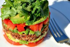 Meatless taco stack....