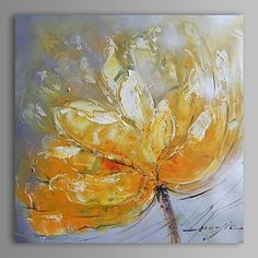 Animal Oil Painting Hand-Painted Canvas Wall Art Other Artists One Panel Ready to Hang – USD $ 74.79